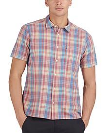Men's Classic-Fit Madras Plaid Shirt