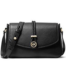 Lea Medium Leather Flap Messenger Bag