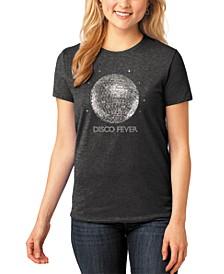 Women's Word Art Disco Ball T-Shirt