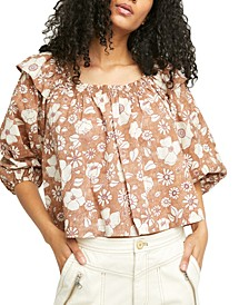 Miss Daisy Cotton Printed Top