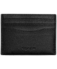 Men's Flat Crossgrain Leather Card Case