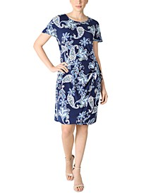 Petite Floral-Print Sheath Dress