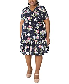 Plus Size Ruffled Sheath Dress
