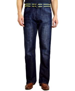 Men's Bootcut Leg Belted Jeans