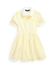 Little Girls Striped Shirtdress