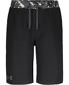 Big Boys Camo-Trim Stretch Woven Shorts