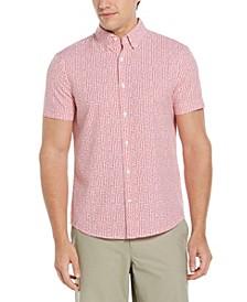 Men's Scratch Print Houndstooth Shirt