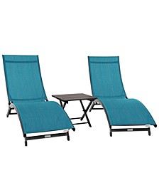 Coral Springs Lounger and Table Set