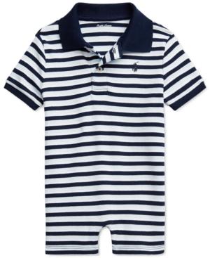 Polo Ralph Lauren Jumpsuits RALPH LAUREN BABY BOYS STRIPED SHORTALL