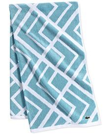 "Shadow Diamond Cotton 30"" x 54"" Bath Towel"