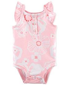 Baby Girls Floral Flutter Bodysuit
