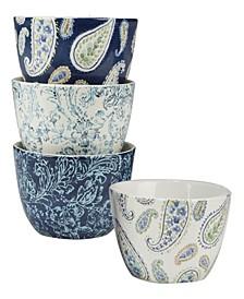 Bohemian Blue Set of 4 Ice Cream Bowl