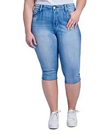 Plus Size High Rise Breezy Crop Jeans