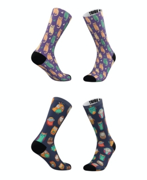 Tribe Socks Socks MEN'S AND WOMEN'S WISE OWLS AND CUDDLY CATS SOCKS, SET OF 2