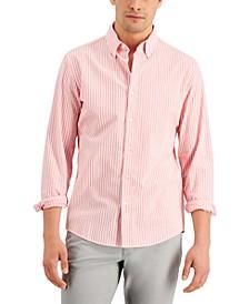Men's Slim-Fit Stretch Stripe Seersucker Shirt