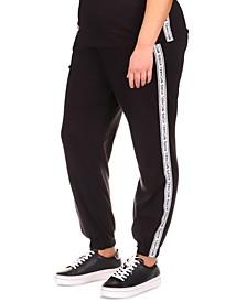 Plus Size Logo Tape Sweatpants