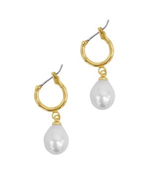 Imitation Pearl Huggie Drop Earrings