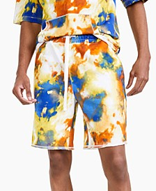 Men's Tie-Dye Paint Shorts, Created for Macy's