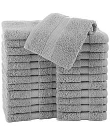"Cotton 24-Pc. Solid 13"" x 13"" Washcloth Set"