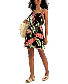 Juniors' Belted Ruffle Cover-Up Dress, Created for Macy's