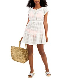 Juniors' Ruffled Cover-Up Dress, Created for Macy's