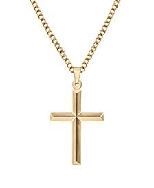 "Men's Cross 24"" Pendant Necklace in Stainless Steel"