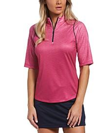 Women's Elbow-Sleeve Gradient Top