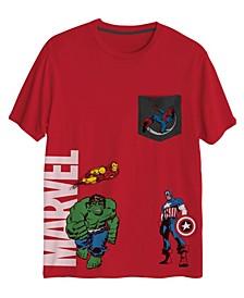 Big Boys Marvel Pocket Short Sleeve Graphic T-shirt