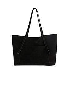 Women's Leather Shopper Tote Bag