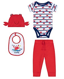 Baby Boys Crab Newborn, 4 Piece Set