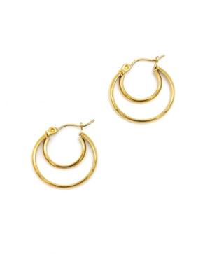 Crescent Midi Hoops Earrings