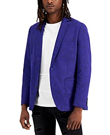 Men's Slim-Fit Textured Floral Jacquard Blazer, Created for Macy's