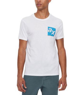 Men's Double Logo Graphic Pima Cotton T-Shirt