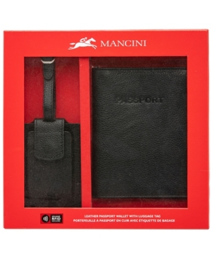 Box Set Collection Men's Rfid Secure Passport Holder with Luggage Tag