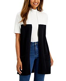 Colorblocked Duster Vest, Created for Macy's