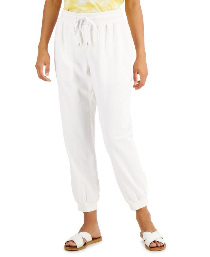Style & Co Petite Crepe Jogger Pants, Created for Macy's & Reviews - Pants - Petites - Macy's