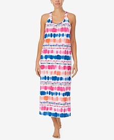 Cotton Tie-Dyed Ballet Tank Nightgown