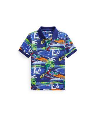 폴로 랄프로렌 남아용 폴로셔츠 Polo Ralph Lauren Toddler Boys Race Car Cotton Mesh Polo Shirt,Deco Bermuda Poster Art Print