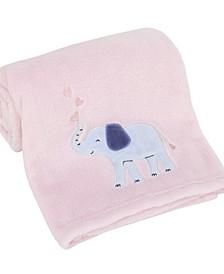 Sweet Floral Elephants Super Soft Baby Blanket