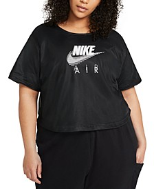 Air Plus Size Mesh-Overlay T-Shirt