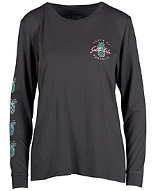 Women's Slice Of Paradise Long-Sleeve Cotton T-Shirt