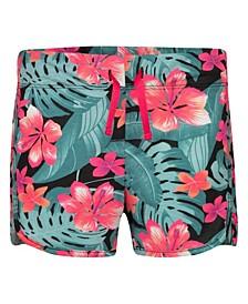 Big Girls Highwaisted Floral Cabana Shorts