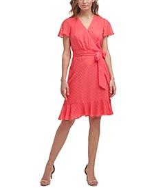 Petite Chiffon Faux-Wrap Dress