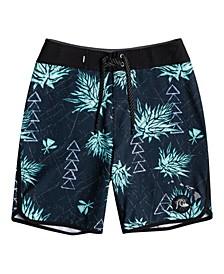 Big Boys Surf Silk Hawaii Scallop Board Shorts