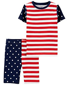 Boys and Girls 4th of July Snug Fit Pajama, 2 Piece Set