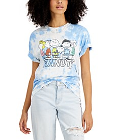 Juniors' Peanuts Cotton Tie-Dyed T-Shirt