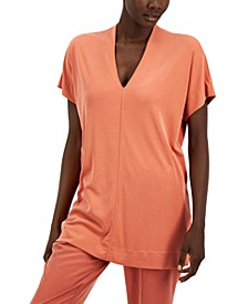 V-Neck Exposed-Seam Top, Created for Macy's