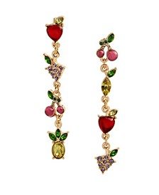 Mixed Fruit Mismatched Linear Earrings