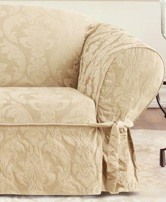 Wonderful Sure Fit Matelasse Damask Slipcover Collection