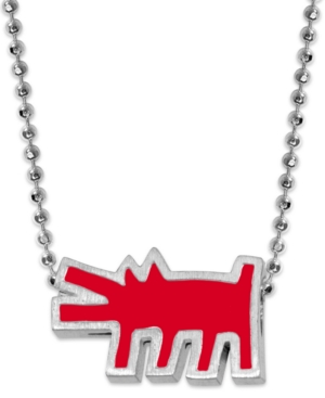 Sterling Silver Alex Woo x Keith Karing Dog Pendant Necklace